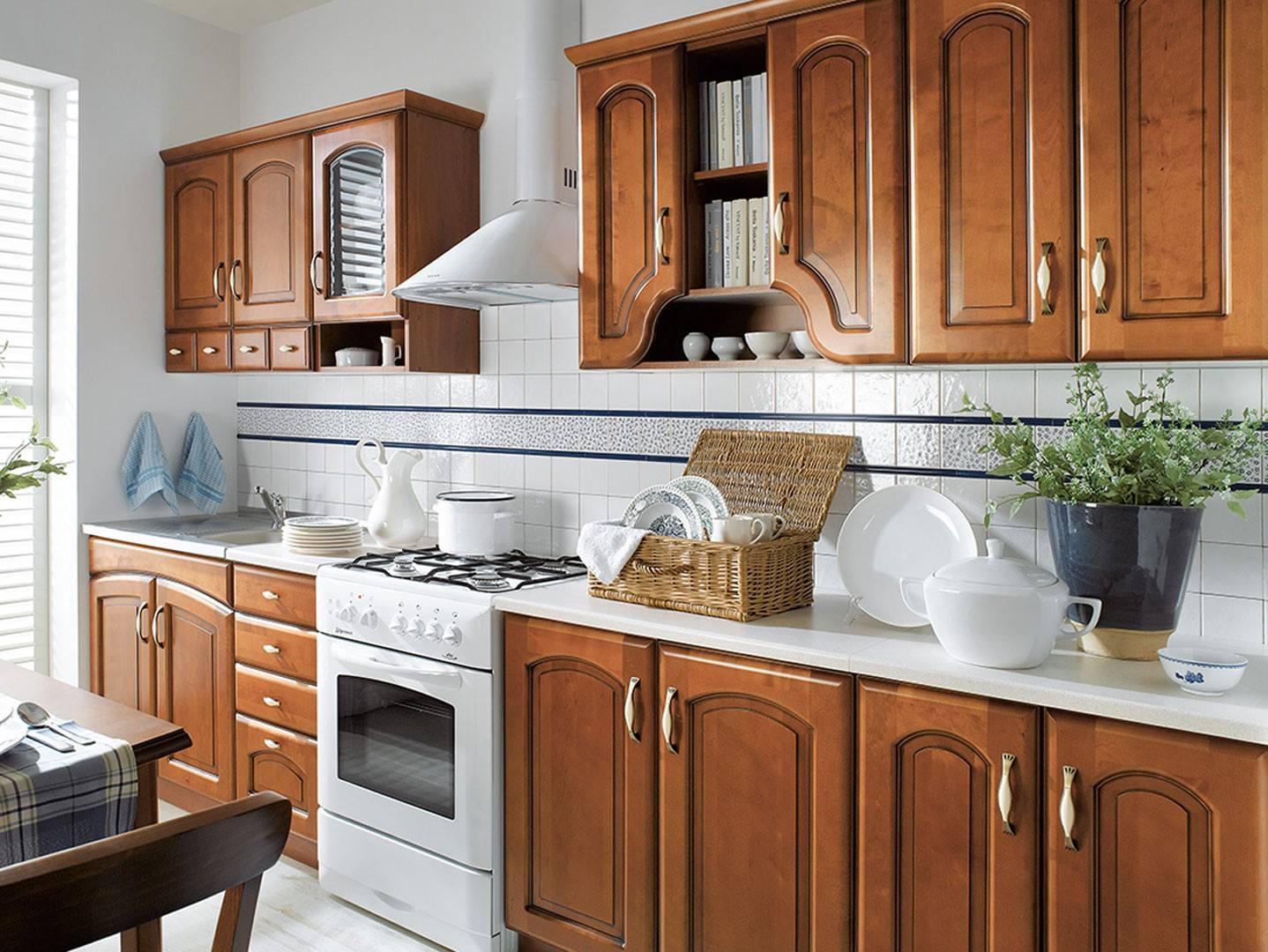 Zestaw mebli kuchennych - Nika 260 Front drewniany