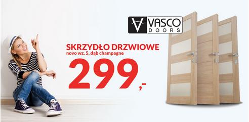 Skrzydło drzwiowe Vasco novo wz.5, dąb champagne