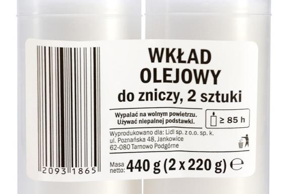 Wkłady olejowe do zniczy 2 x 85h