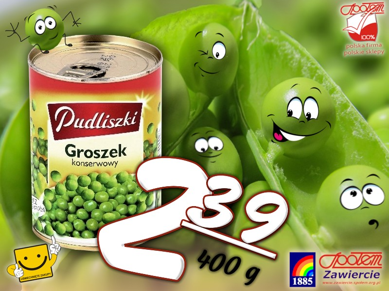 Groszek konserwowy 400g
