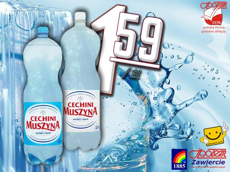 Woda mineralna Cechini Muszyna 2l